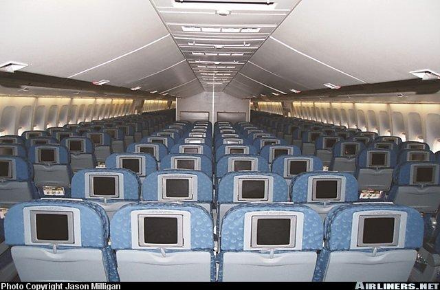 Dentro del avion