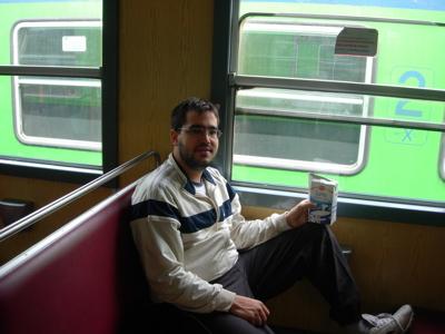 Sebas en el tren