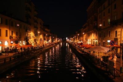 Navigli por la noche