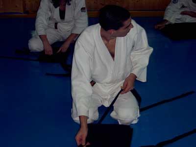 Borja doblando la hakama
