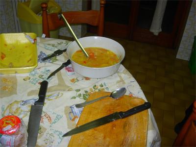 Preparando la tortilla