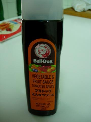 Salsa de tonkatsu