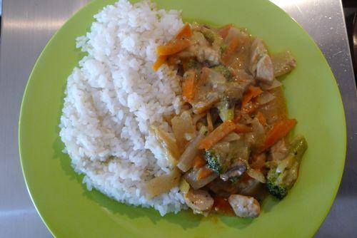 Receta de curry tailandes
